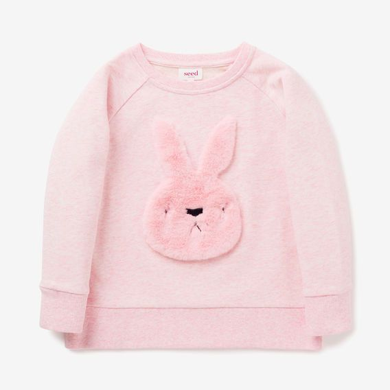 Fluffy Bunny Windcheater  ICE PINK MARLE