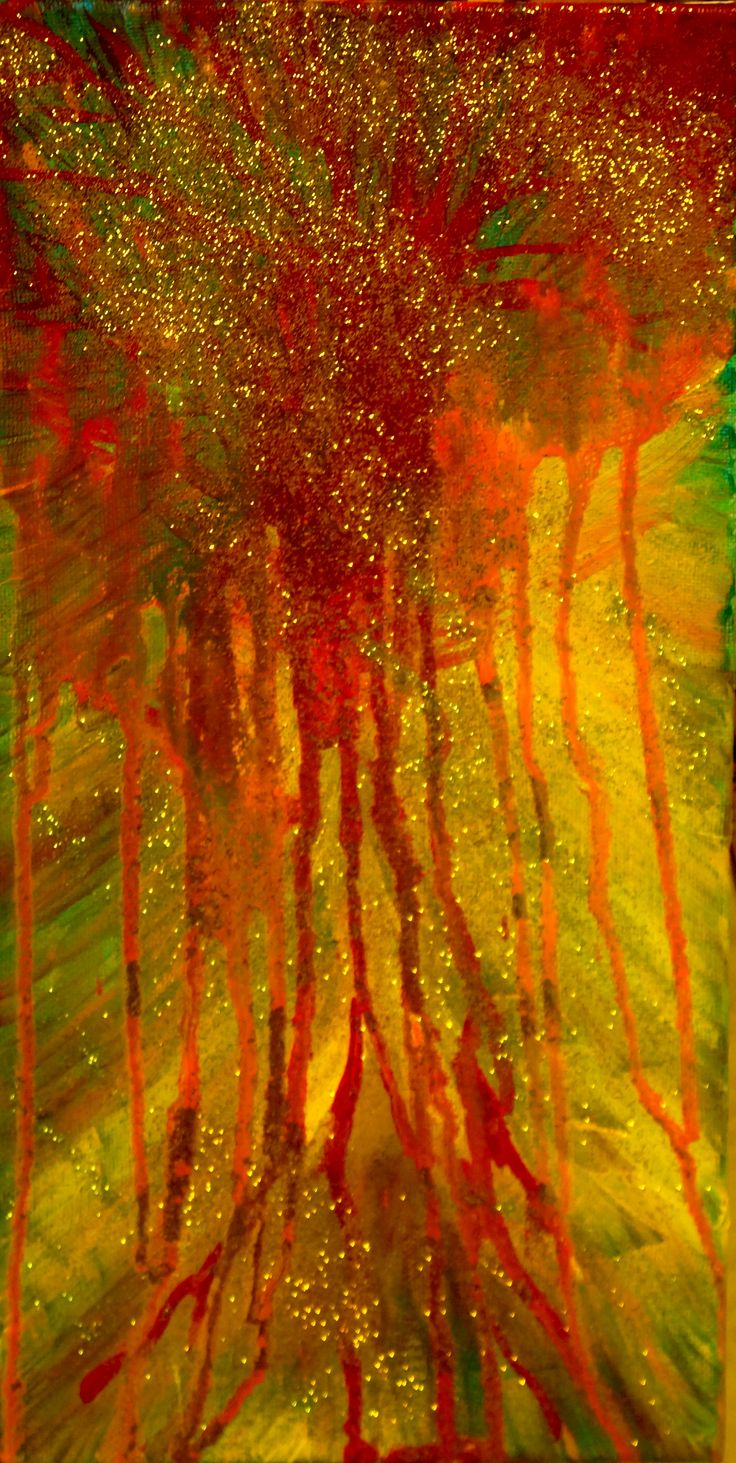 """Abstract tree with loads of sparkles"". P.P.Becker. PS. I just love sparkles :)"