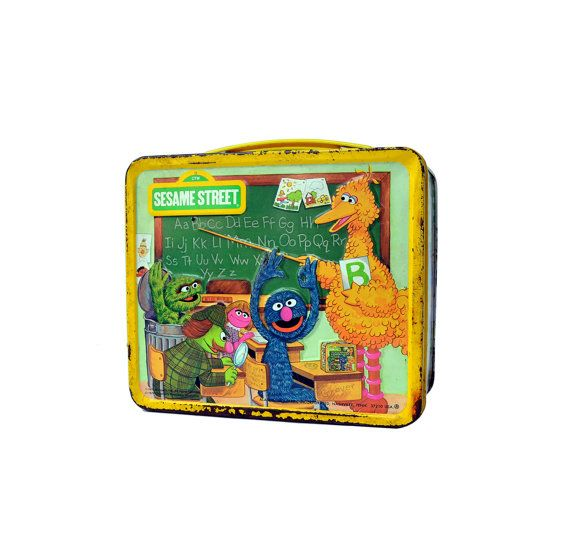 This is a vintage Sesame Street lunch box made in the good ol U.S.A. by Aladdin Industries out of Nashville, Tenn. This lunch box was produced in