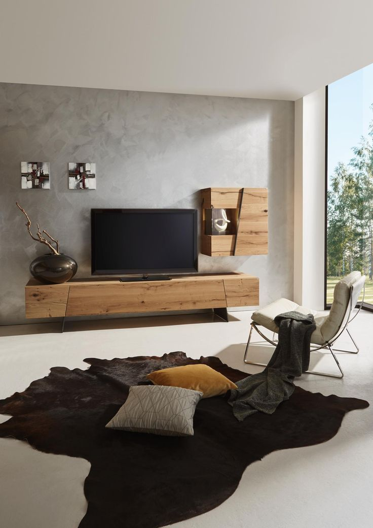 schrankwand in grau natur von voglauer minimalism. Black Bedroom Furniture Sets. Home Design Ideas