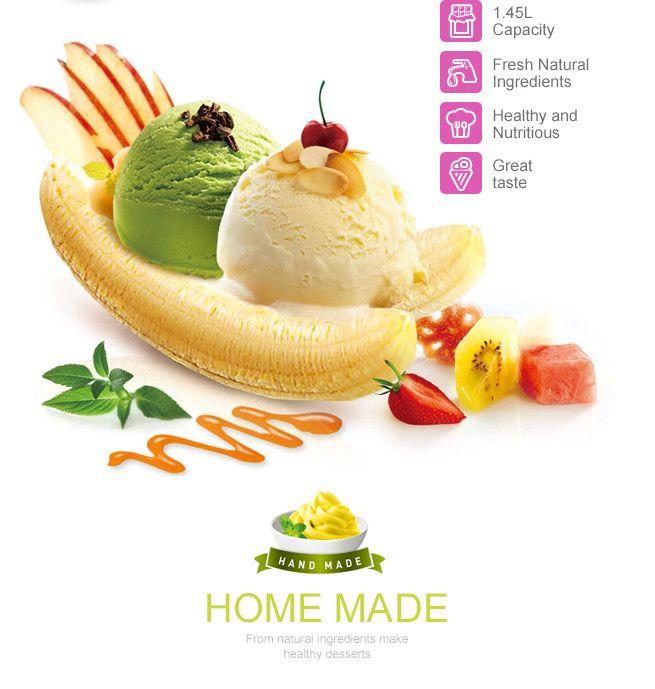 1.45L Electronic Ice Cream, Frozen Yogurt, Gelato and Sorbet Maker
