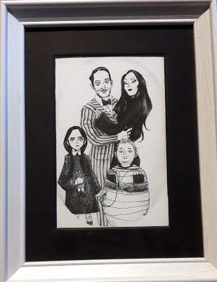 Caroline Sometimes: A Horrific Birthday Surprise  Framed Addams Family artwork