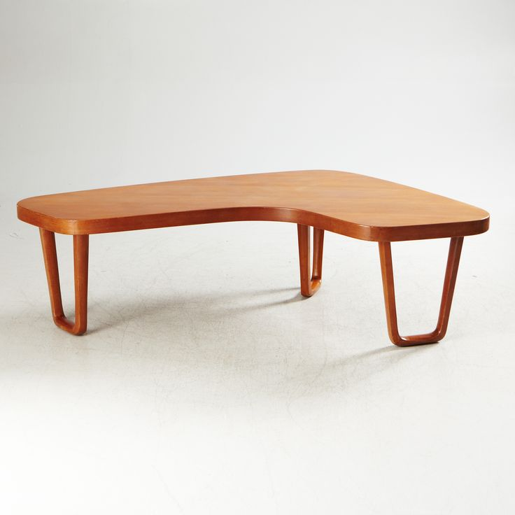 Teak Atomic Coffee Table: Anonymous, Teak Coffee Table By Alberts-Tibro, C1960
