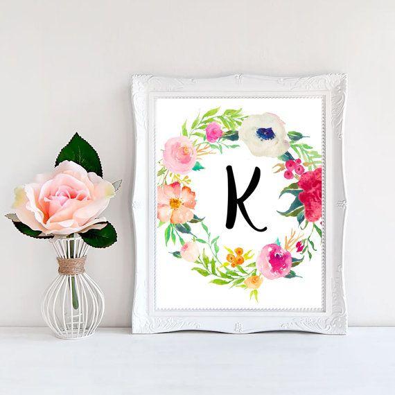 florale Buchstaben
