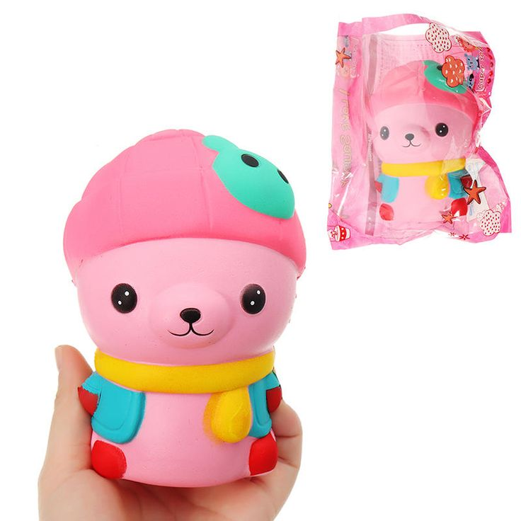 [4.99] Bear Squishy 13*8.5*9cm Slow Rising With Packaging ...