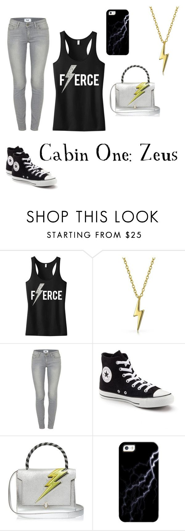 """""""Zeus' Children"""" by professional-otaku on Polyvore featuring Bling Jewelry, Paige Denim, Converse, Anya Hindmarch and Casetify"""