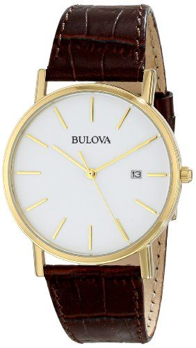 Bulova Men's 97B100 Gold-Tone Stainless Steel Watch With Brown Leather Band https://www.carrywatches.com/product/bulova-mens-97b100-gold-tone-stainless-steel-watch-with-brown-leather-band/ Bulova Men's 97B100 Gold-Tone Stainless Steel Watch With Brown Leather Band  #bulovamenswatch-mensbulovawatches-bulovawatchesmen #bulovaquartz #bulovawatchprices #bulovawatches...