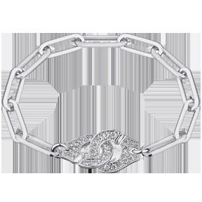 "Dinh Van Joaillier ""Menottes dinh van R15"" Bracelet, White Gold and Diamonds"