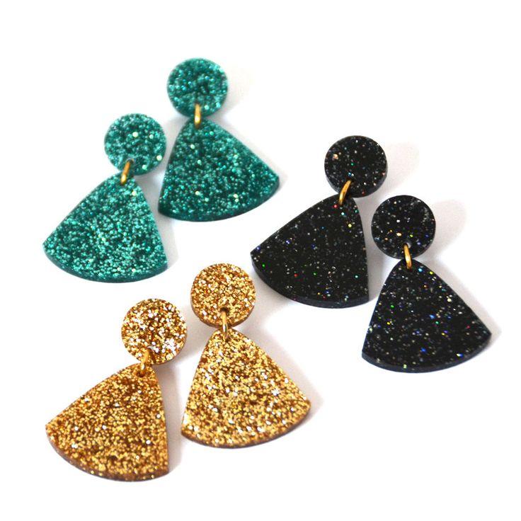 Glitter Tassel Drop Earring Glitter Earring by blossomandcat