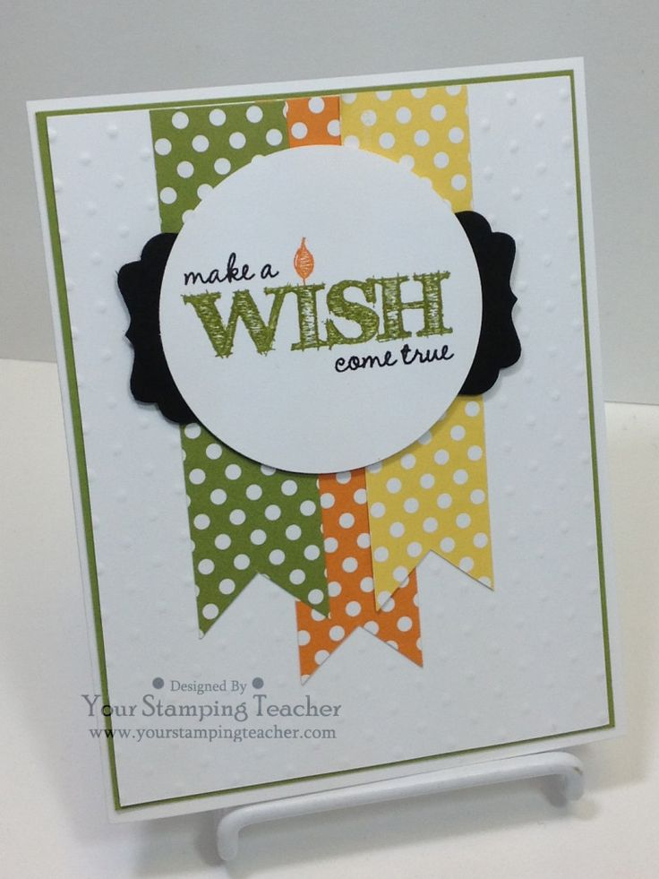 Make A Wish Birthday Card Stampin Up So Cute And Simple