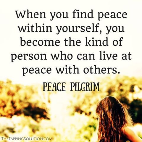 Today, how can you bring a feeling of peace into your life?