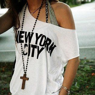 love off the shoulder shirts just as much as I love NYC! ~ http://VIPsAccess.com/luxury-hotels-new-york.html