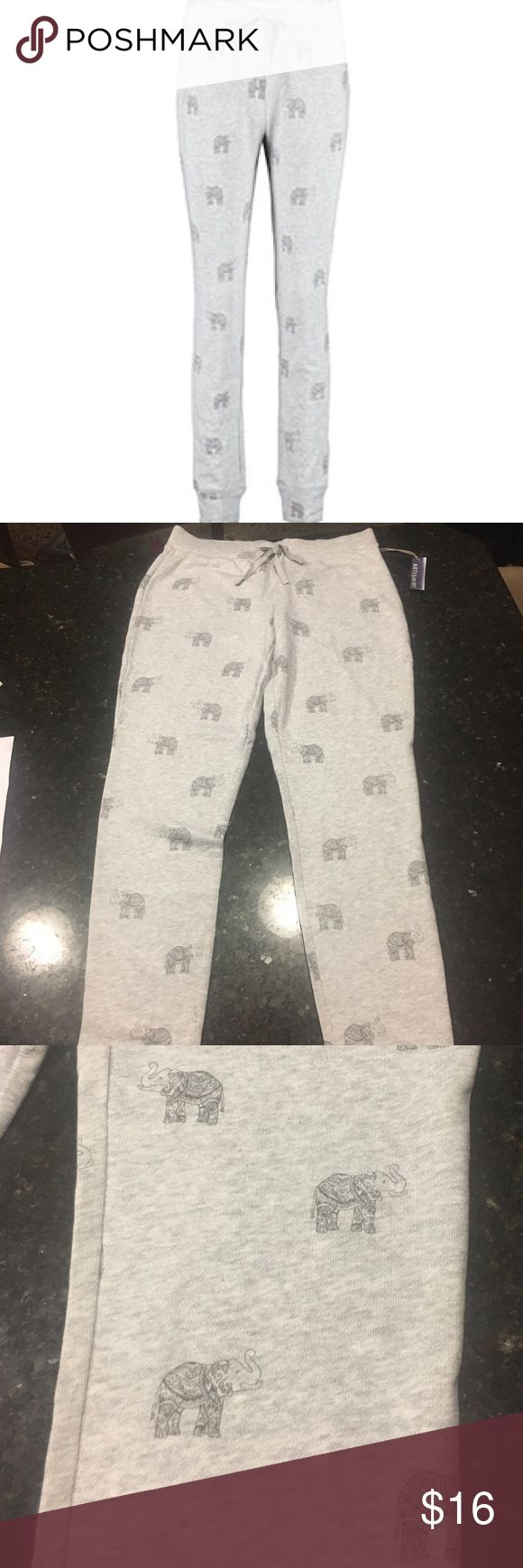 Artisan NY Jogger Sweatpants Never worn with tags! Very soft and comfy sweatpants with elephant print. Artisan NY Pants Track Pants & Joggers