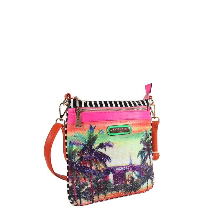 Nicole Lee Hollywood Hologram Print Crossbody - Overstock™ Shopping - Top Rated nicole lee Crossbody & Mini Bags