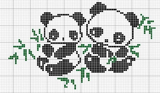 Pandas cross stitch