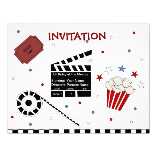 Cute Movie Theme Children's Invitation Template