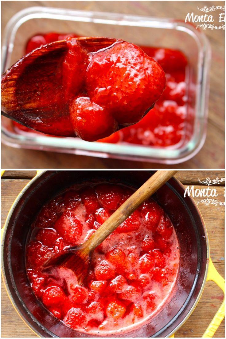 como fazer geleia caseira de morango