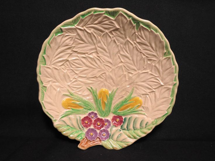Wade Candy Dish Heath England Vintage Earthenware Floral Nut Tray 6 7/8