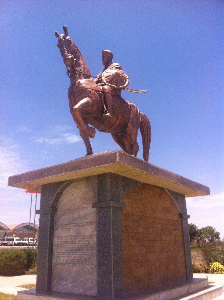 Statue at Mekele Airport, Ethiopia