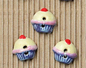 Cupcake Buttons. Use to replace plastic or adorn a pocket, hat, sleeve, bag, apron, cushion. Use in paper crafts from scrapbooking to making gift tags and greeting cards...cute as a button.