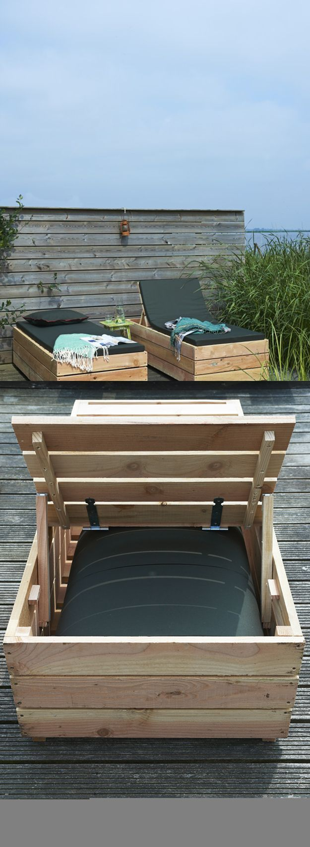 DIY Daybed Lounger | Cool Step By Step DIY Pallet Furniture Tutorial by DIY Ready at http://diyready.com/diy-pallet-projects-outdoor-furniture/
