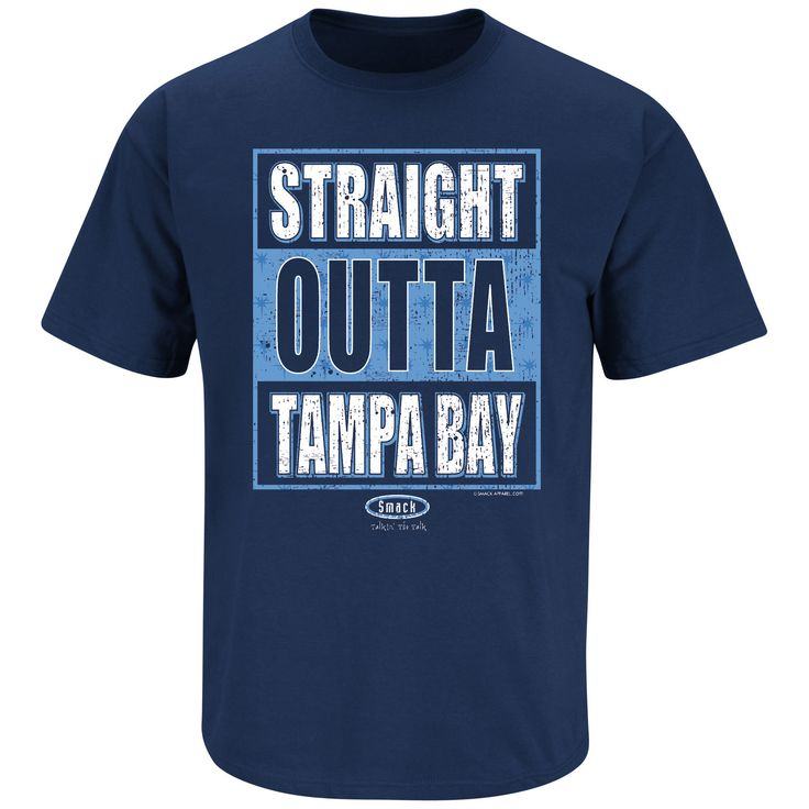 Tampa Bay Rays Fans. Straight Outta Tampa Bay. Navy T Shirt (Sm-5X)
