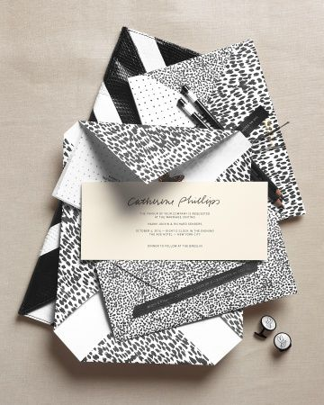 Martha Stewart Weddings Fall 2103 / Prêt-a-Papier invitation, envelope and notebooks by Paper Stock UK paperstock.co.uk