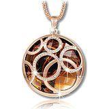 Starista Schmuck Classic Gold überzogen ringsum hängende Strickjacke-Ketten-Halskette mit Brown-Kristalle für ihre: Amazon.de: Schmuck