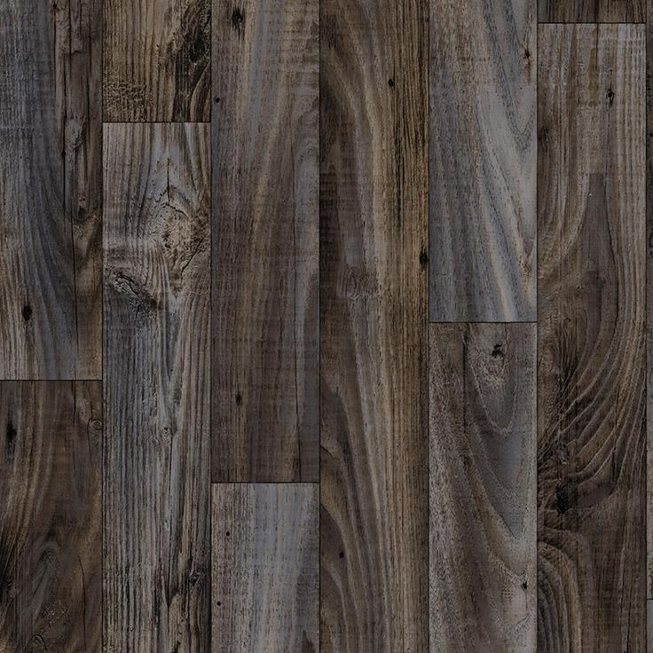 Smokehouse Oak Grey 13.2 ft. Wide x Your Choice Length Residential Vinyl Sheet Flooring, Dark Grey Weathered Wood Finish