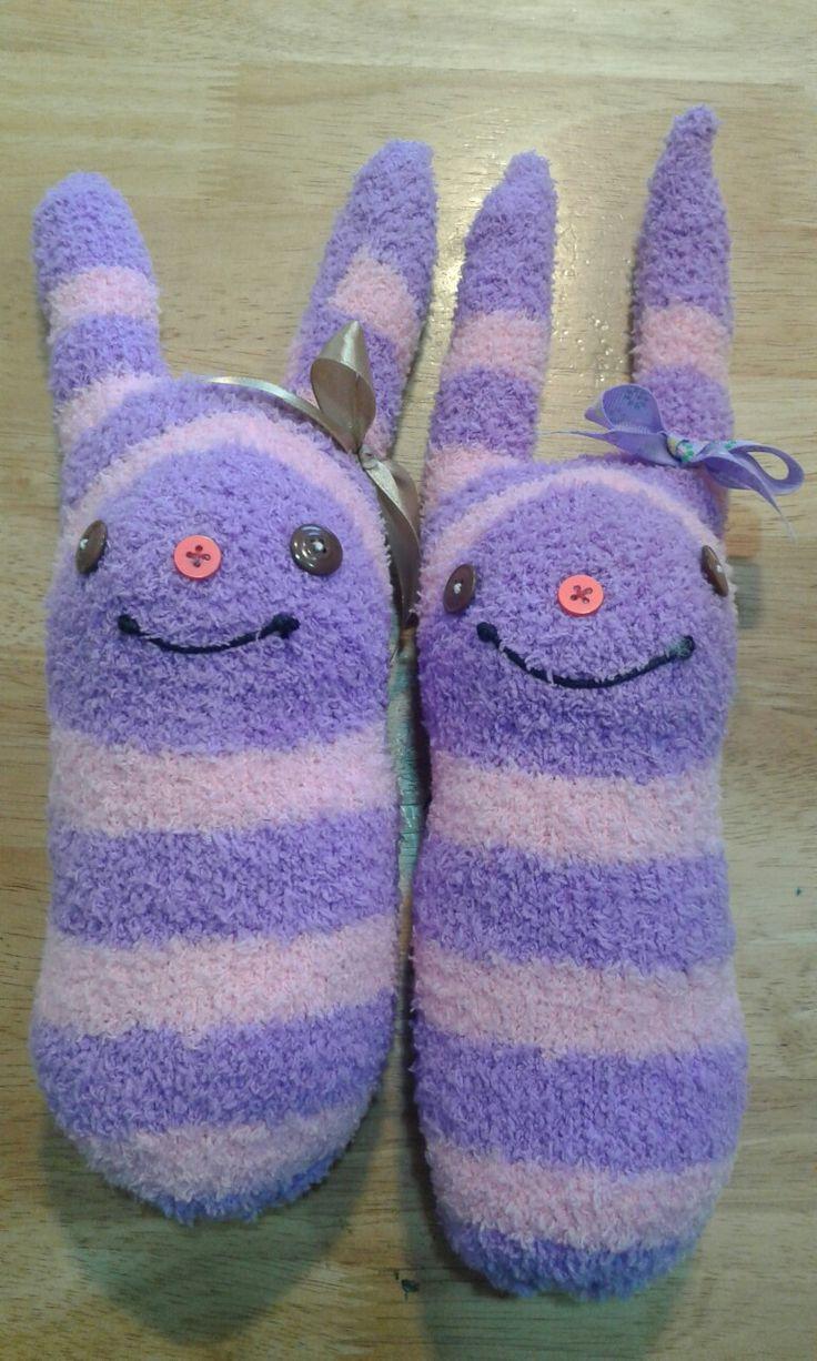 Bonecos feitos com meias