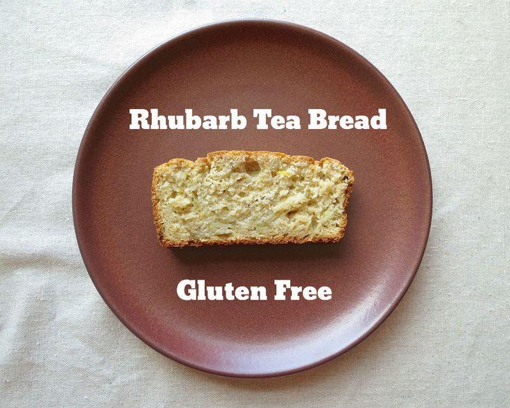Gluten Free Ratio Rally Rhubarb Tea Bread www.glutenfreetravelette.com ...