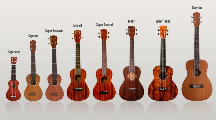 Ukulele Types - See more Ukuleles at http://tonysmusic.net/ukulele-store/