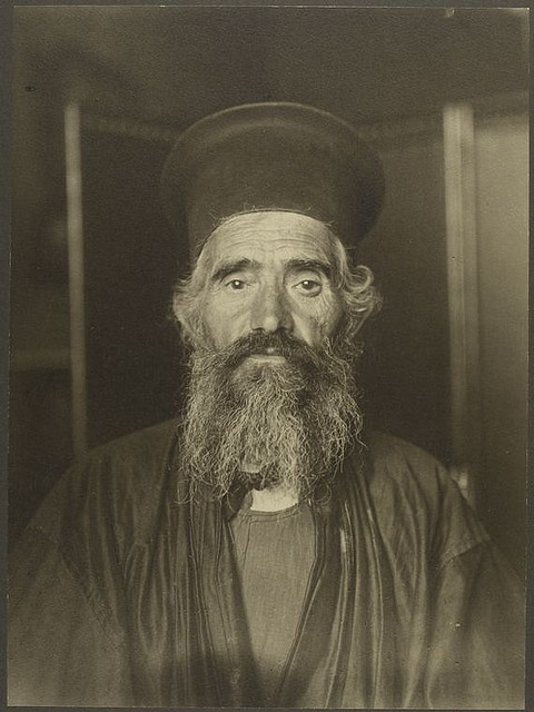 Immigration: [Rev. Joseph Vasilon, Greek-Orthodox priest.]    Digital ID: 418050. Sherman, Augustus F. (Augustus Francis) -- Photographer. [ca. 1906-1914]    Notes: Identification from Peter Mesenholler 'Augustus F. Sherman: Ellis Island Portraits 1905-1920' (c1905) p.34.    Source: William Williams papers / Photographs of immigrants (more info)    Repository: The New York Public Library. Manuscripts and Archives Division.