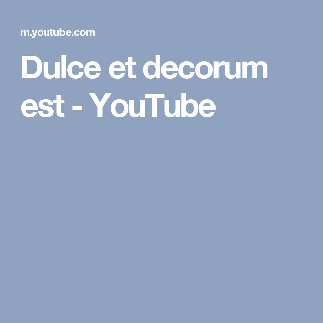 Dulce et decorum est - YouTube