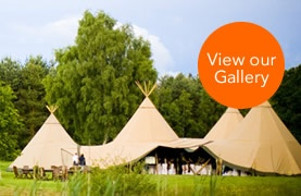Teepee Marquees- Love these. View the Gallery