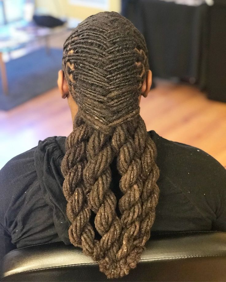Best hairstyle for fine thin straight hair dreadlock