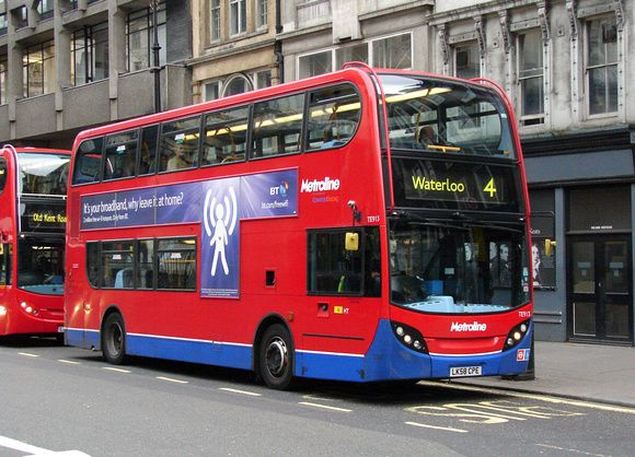 Must Do! London bus route 4.  Travels to Barbican, Waterloo, St. Pauls Cathedral, and the Houses of Parliament. Riding a double decker bus and sight seeing, I would be the happiest tourist in London!