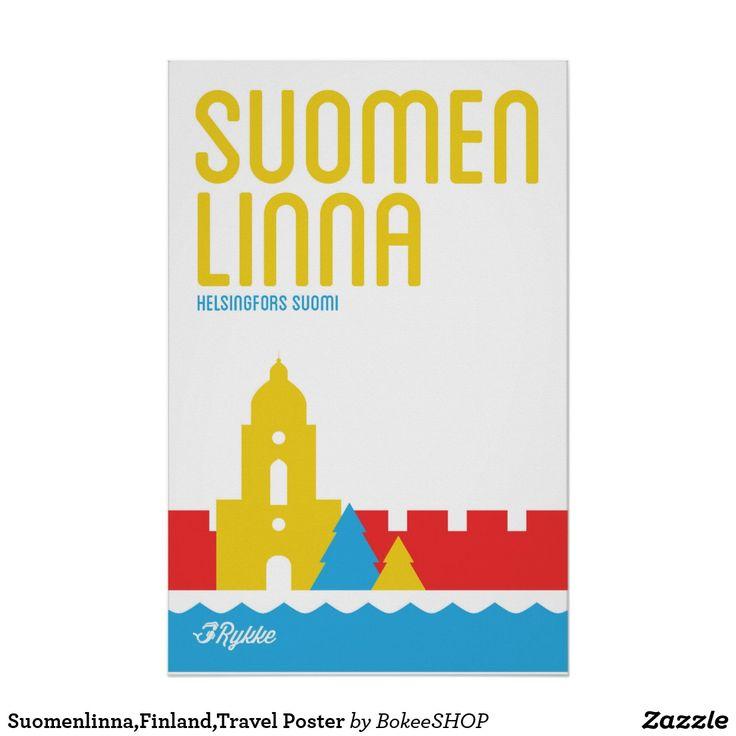 Suomenlinna,Finland,Travel Poster