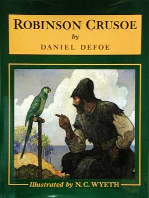 Robinson est naufragé sur une île déserte : il y organise sa vie. Il finit par remarquer la venue de cannibales qui viennent y tuer et manger leurs prisonniers et réussit à délivrer celui qu'il appellera Vendredi.