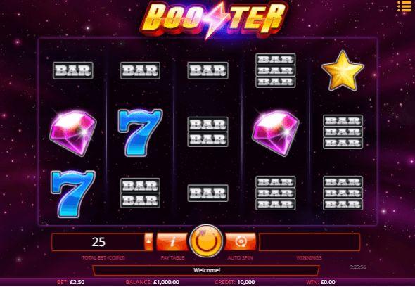 iSoftbet schickt den Spielautomaten Booster ins Rennen. Leider entgegen des Namens eine lahme Krücke