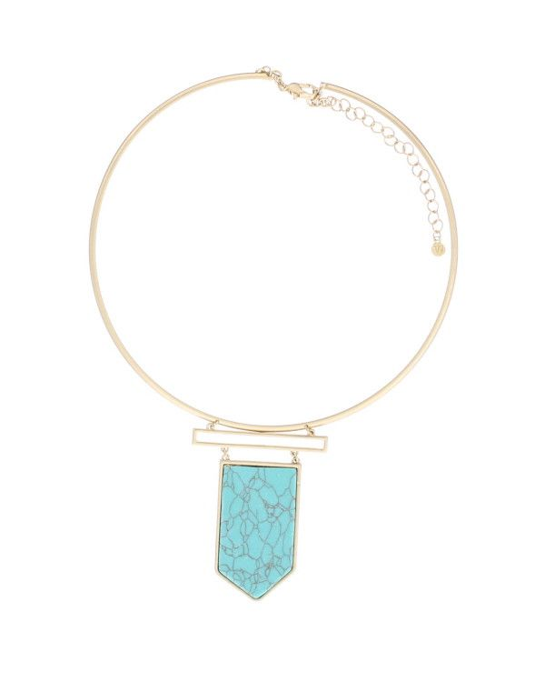 Britta Stone Pendant Choker Necklace
