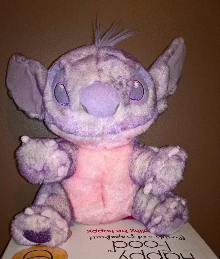 Disney Stitch Plush Tip Dye Purple Pink Lilo Stitch Soft Stuffed Animal Clean  #Disney