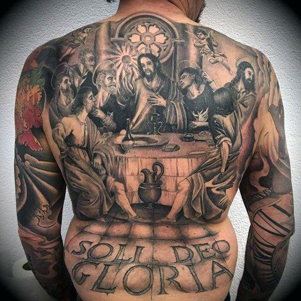 109 Best Back Tattoos For Men: 100 Religious Tattoos For Men