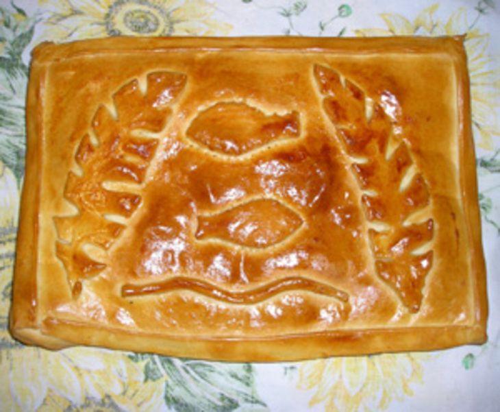 Пирог рыбный (старорусские пироги)