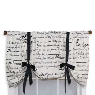 Pretty. Kitchen or Bathroom. Checking Home goods for something similar.   RL Fisher 50-Inch by 25-Inch Longhand Tie-Up Valance - BedBathandBeyond.com