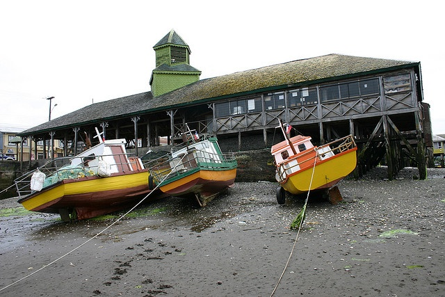Boats in Chiloè by carlomazzucchelli, via Flickr