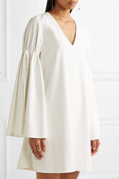 Adeam - Jacquard Mini Dress - Ivory - US10