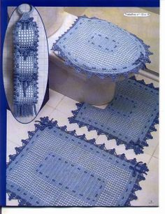 Blue bathroom decor ♥LCB♥ with diagrams
