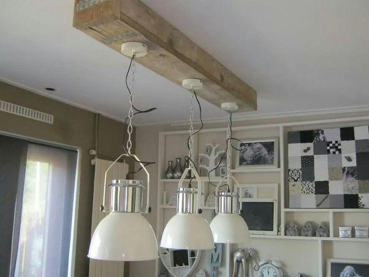 Lampen van de action en koof van steigerhout