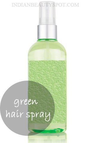 natural hair spray for hair strengthening. Brew two cups of green tea and add it to a spray bottle, spray green tea to the roots of your hair, leave it on for 15 mins and shampoo as usual. You can also use flavored green tea to add a nice fragrance to your hair.